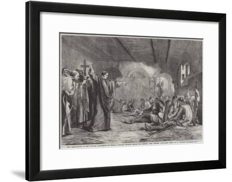 The Conspirators in the Private Apartments of Thomas A'Becket Shortly before His Murder-Sir John Gilbert-Framed Art Print