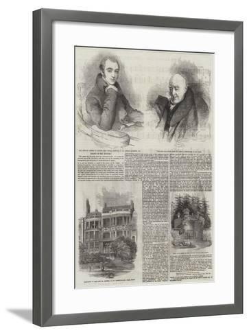 Death of Mr Rogers-Thomas Lawrence-Framed Art Print