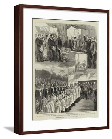 The Prince and Princess of Wales in Denmark-Sydney Prior Hall-Framed Art Print