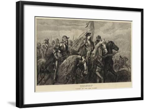 With All their Banners Bravely Spread, and All their Armour Flashing High-Sir John Gilbert-Framed Art Print