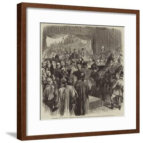 The Queen's Visit to the City, Reception of Her Majesty at the Surrey End of Blackfriars New Bridge-Sir John Gilbert-Framed Art Print