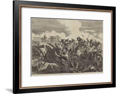 Charge of Light Cavalry, at Balaclava-Sir John Gilbert-Framed Art Print