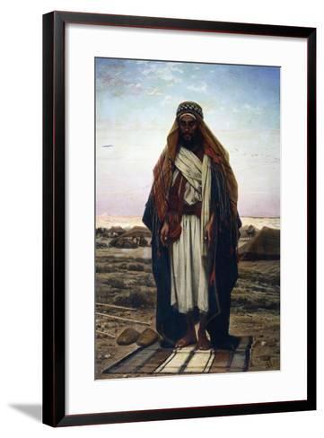 The Prayer in the Desert (Bedouin in Prayer), 1876-Stephen Ussi-Framed Art Print