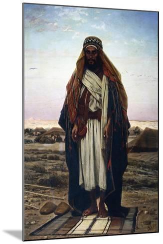 The Prayer in the Desert (Bedouin in Prayer), 1876-Stephen Ussi-Mounted Giclee Print