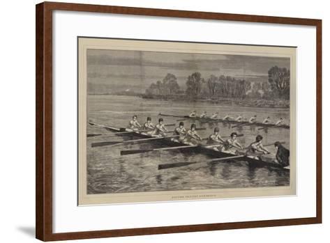 Oxford Against Cambridge-Sydney Prior Hall-Framed Art Print