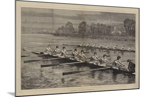 Oxford Against Cambridge-Sydney Prior Hall-Mounted Giclee Print