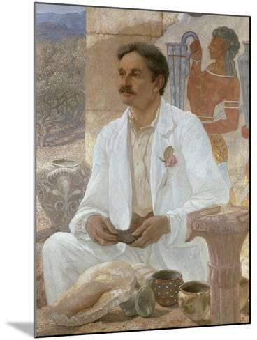 Sir Arthur Evans Among the Ruins of the Palace of Knossos, 1907-William Blake Richmond-Mounted Giclee Print