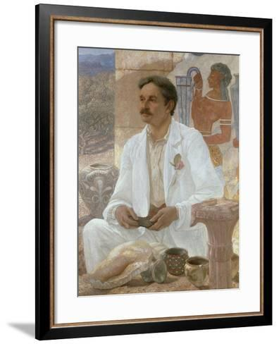 Sir Arthur Evans Among the Ruins of the Palace of Knossos, 1907-William Blake Richmond-Framed Art Print
