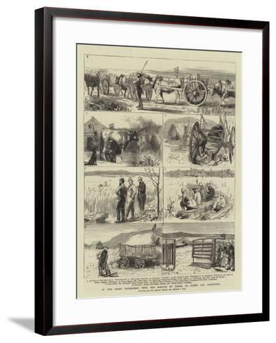 In the Great North-West with the Marquis of Lorne, Xi, Farms and Freighters-Sydney Prior Hall-Framed Art Print