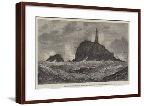 The Calf-Rock Lighthouse, Bantry Bay, Destroyed by the Late Storm-Sir John Gilbert-Framed Art Print