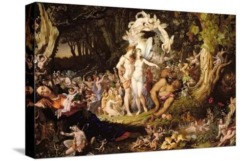 The Reconciliation of Oberon and Titania, 1847-Sir Joseph Noel Paton-Stretched Canvas Print