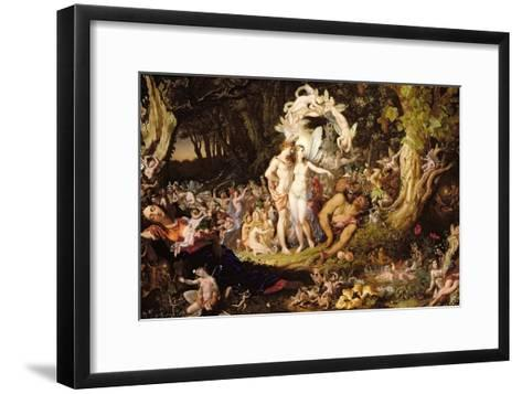 The Reconciliation of Oberon and Titania, 1847-Sir Joseph Noel Paton-Framed Art Print