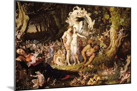 The Reconciliation of Oberon and Titania, 1847-Sir Joseph Noel Paton-Mounted Giclee Print