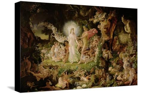 The Quarrel of Oberon and Titania, 1849-Sir Joseph Noel Paton-Stretched Canvas Print