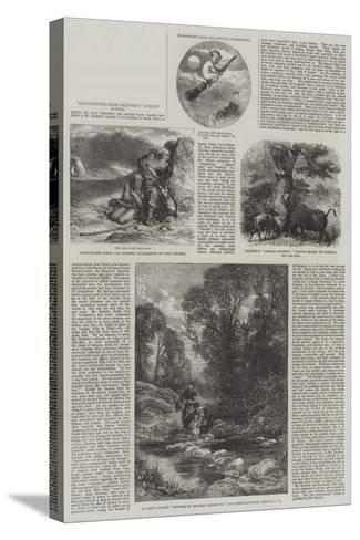 Illustrations from Baldwin's African Hunting-Sir John Gilbert-Stretched Canvas Print