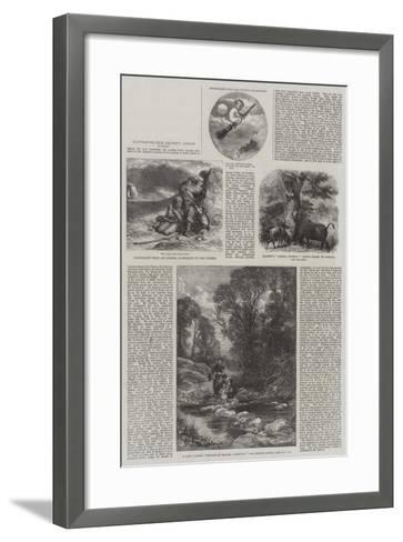 Illustrations from Baldwin's African Hunting-Sir John Gilbert-Framed Art Print