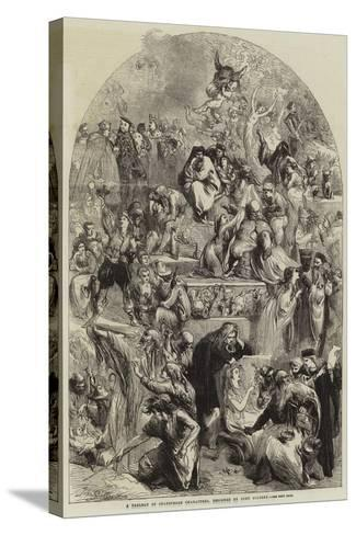 A Tableau of Shakespeare Characters-Sir John Gilbert-Stretched Canvas Print