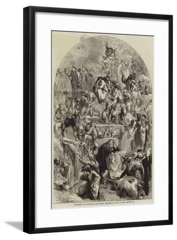 A Tableau of Shakespeare Characters-Sir John Gilbert-Framed Art Print