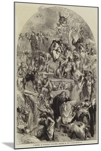 A Tableau of Shakespeare Characters-Sir John Gilbert-Mounted Giclee Print