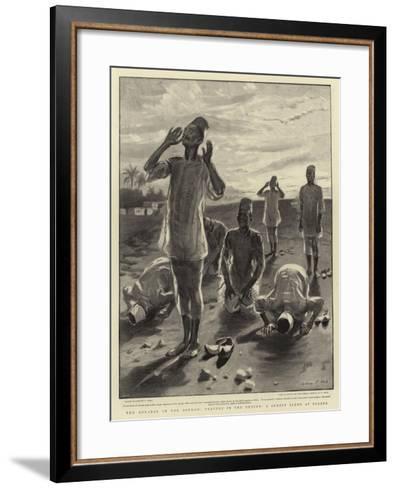 The Advance in the Soudan, Prayers in the Desert, a Sunset Scene at Berber-Sydney Prior Hall-Framed Art Print