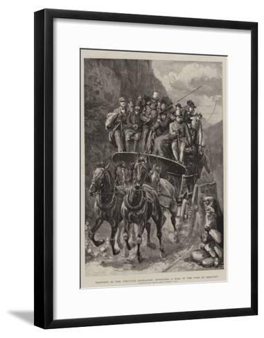 Tourists in the Western Highlands, Springing a Hill in the Pass of Melfort-Sydney Prior Hall-Framed Art Print