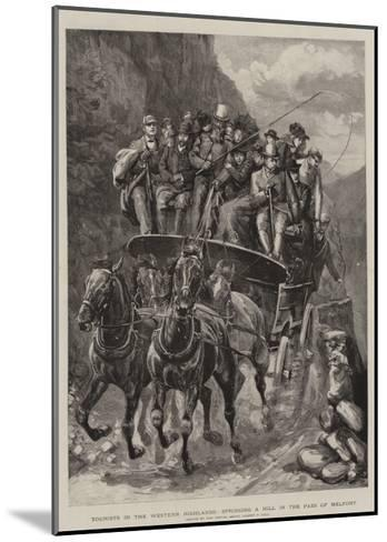 Tourists in the Western Highlands, Springing a Hill in the Pass of Melfort-Sydney Prior Hall-Mounted Giclee Print