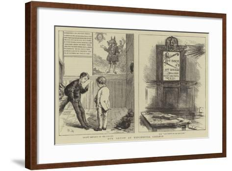 Our Artist at Winchester College-Sydney Prior Hall-Framed Art Print