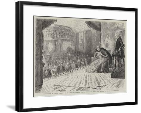 Performance of David Garrick by Mr Charles Wyndham's Company before the Prince and Princess of Wale-Sydney Prior Hall-Framed Art Print