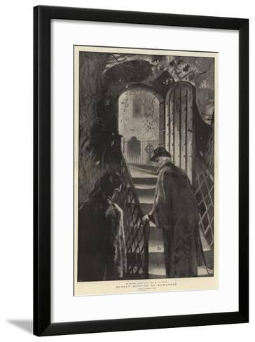 Sunday Morning at Hawarden-Sydney Prior Hall-Framed Art Print