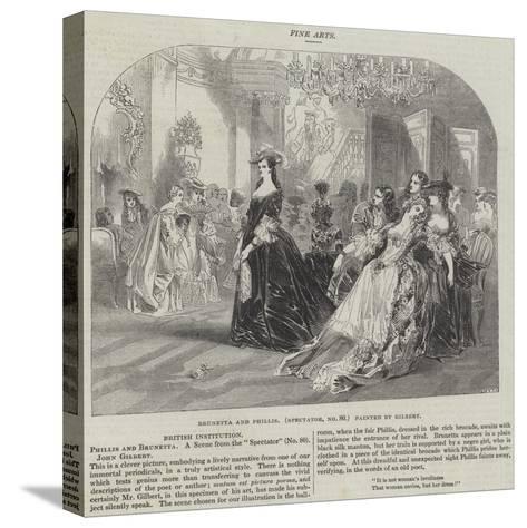 Brunetta and Phillis, Spectator, No 80-Sir John Gilbert-Stretched Canvas Print