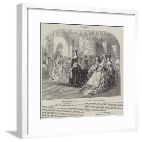 Brunetta and Phillis, Spectator, No 80-Sir John Gilbert-Framed Art Print