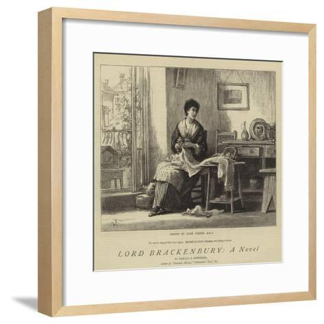 Lord Brackenbury, a Novel-Sir Samuel Luke Fildes-Framed Art Print
