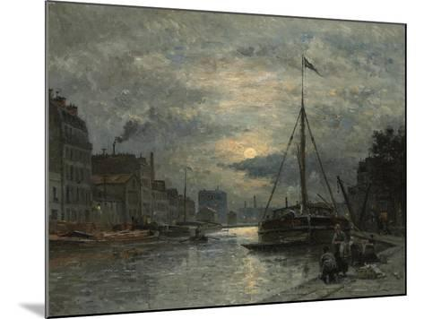 The Saint-Martin Canal at Moonlight; Le Canal Saint-Martin Au Clair De Lune-Stanislas Victor Edouard Lepine-Mounted Giclee Print