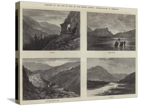 Sketches of the War in Asia-Sir John Gilbert-Stretched Canvas Print
