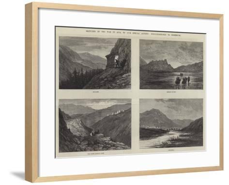 Sketches of the War in Asia-Sir John Gilbert-Framed Art Print
