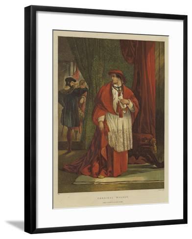 Cardinal Wolsey-Sir John Gilbert-Framed Art Print