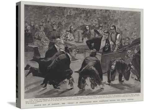 Speech Day at Harrow, the Frogs of Aristophanes Being Performed before the Royal Visitors-Sydney Prior Hall-Stretched Canvas Print
