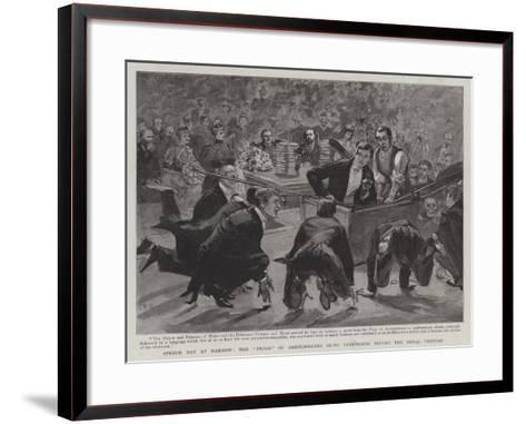 Speech Day at Harrow, the Frogs of Aristophanes Being Performed before the Royal Visitors-Sydney Prior Hall-Framed Art Print
