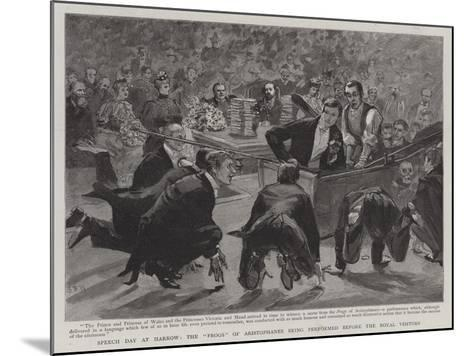 Speech Day at Harrow, the Frogs of Aristophanes Being Performed before the Royal Visitors-Sydney Prior Hall-Mounted Giclee Print