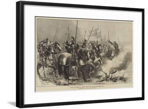 Hark! Our Steeds for Present Service Neigh-Sir John Gilbert-Framed Art Print