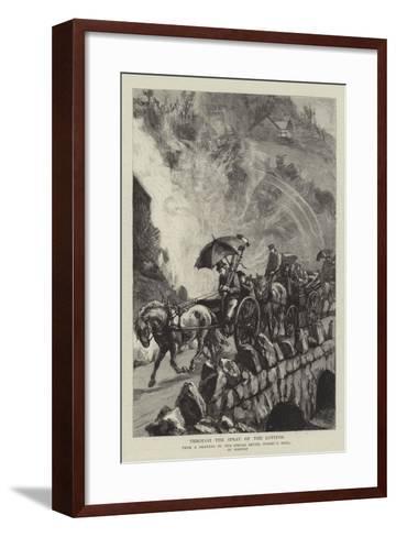Through the Spray of the Lotefos-Sydney Prior Hall-Framed Art Print