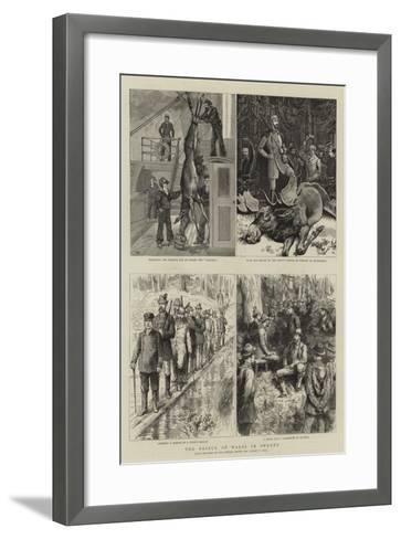 The Prince of Wales in Sweden-Sydney Prior Hall-Framed Art Print