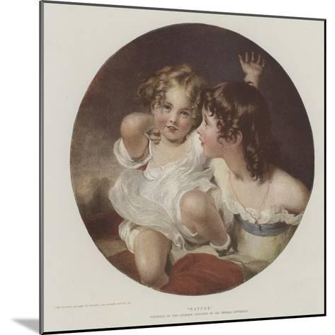 Nature-Thomas Lawrence-Mounted Giclee Print