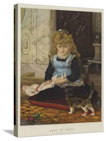 Puss in Boots-John Everett Millais-Stretched Canvas Print