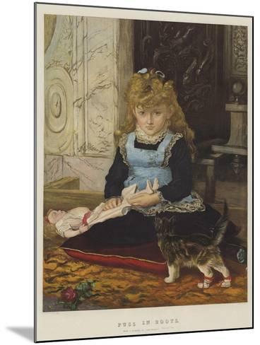 Puss in Boots-John Everett Millais-Mounted Giclee Print