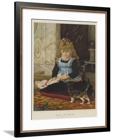 Puss in Boots-John Everett Millais-Framed Art Print