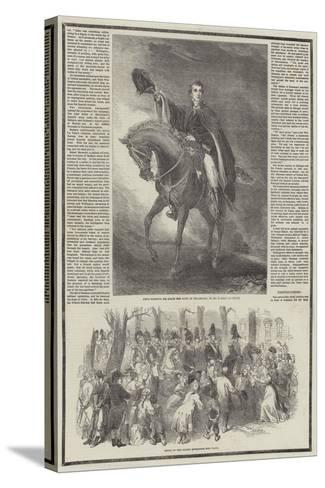 Death of the Duke of Wellington-Sir John Gilbert-Stretched Canvas Print