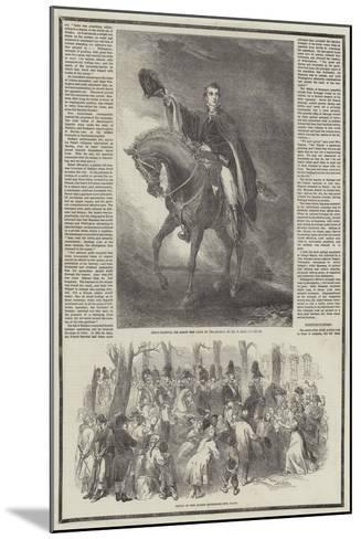Death of the Duke of Wellington-Sir John Gilbert-Mounted Giclee Print