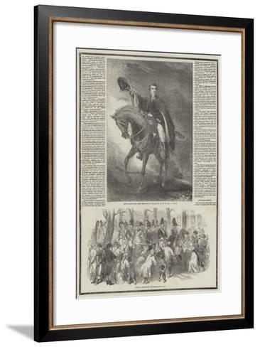 Death of the Duke of Wellington-Sir John Gilbert-Framed Art Print