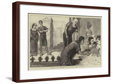 Ancients and Moderns at Westminster, after the Play-Sydney Prior Hall-Framed Art Print